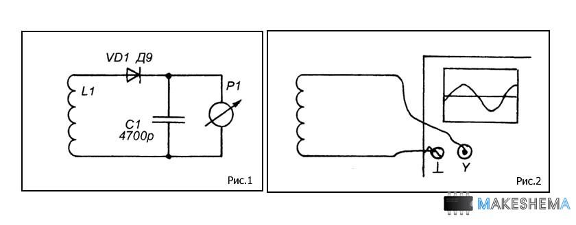 Схема индикатора настройки приемника на светодиодах